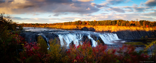 autumn sunset panorama fall river waterfall fuji finepix fujifilm cohoes x100s