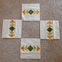 Flying geese blocks all done.