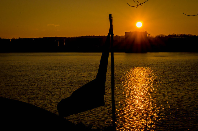 Hudson River sunset