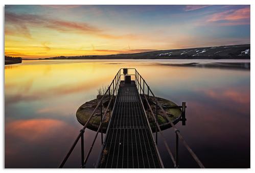 water sunrise dawn yorkshire ngc reservoir d600 chelkerreservoir nikkor1635mmf4 nikonfxshowcase