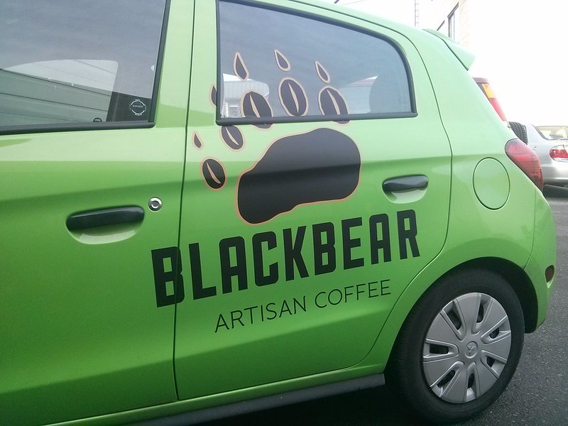 Black Bear side vehicle graphics