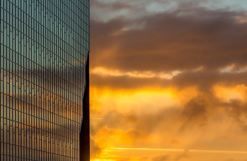 sunset sky orange architecture abstract lines colour color shapes netherlands
