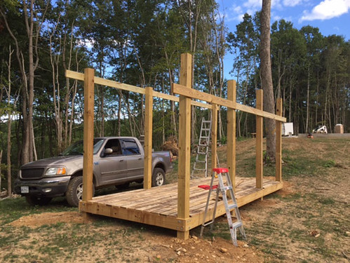 Firewood shed in progress