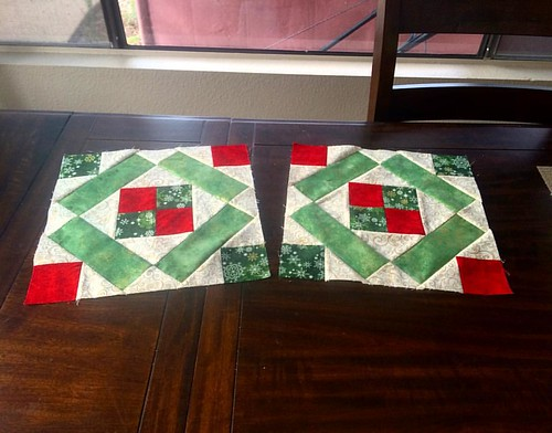 Can you spot the difference? There will be a correction coming out soon for the corner block in the #dbqchristmasbom . #sewingmistakes