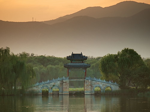 china park sunset lake green water wow garden asia beijing olympus 北京 summerpalace 中国 kunming pavillion 颐和园 亚洲 昆明湖 e410