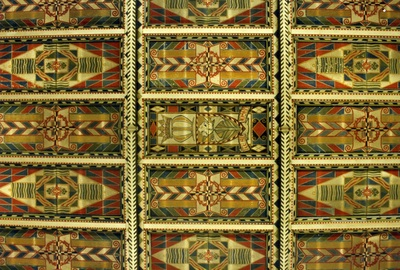 ceiling of st joseph catholic church, burslem, staffordshire