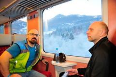 Krásné kulisy vně se z vlaku těžko fotí