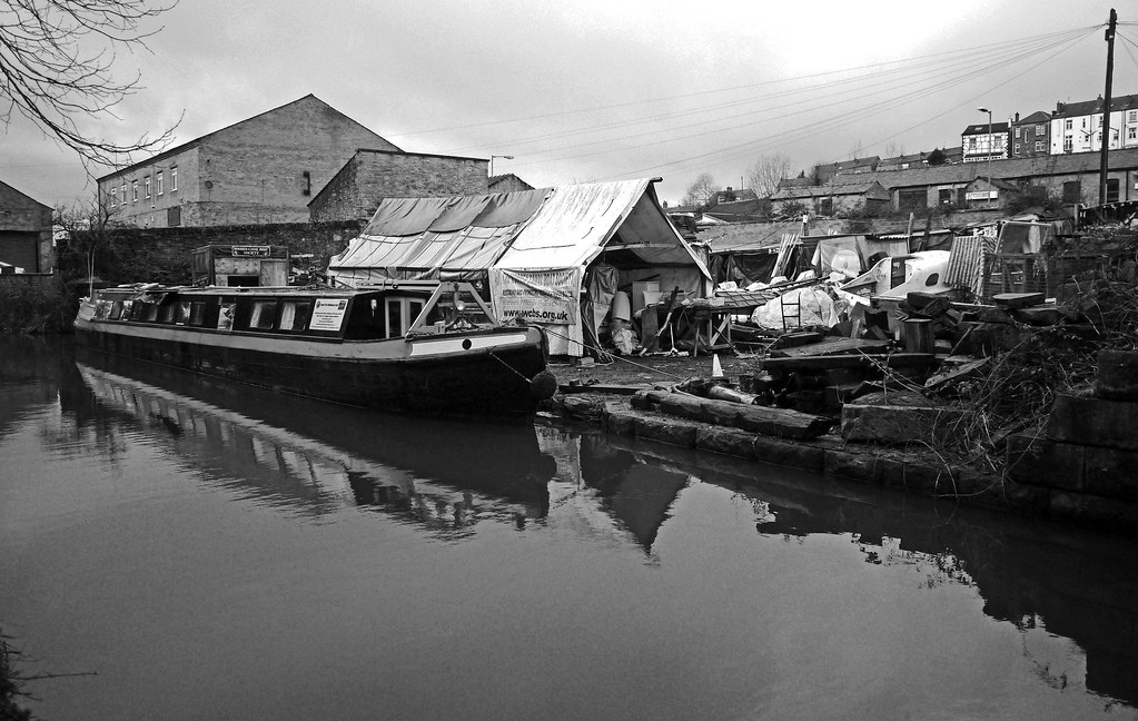 Wooden Canal Boat Society Boatyard Mono More From Our Wa Flickr