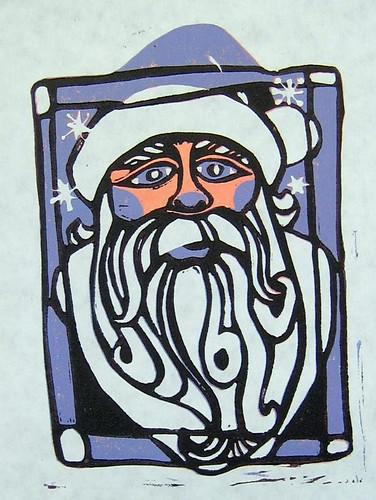 Blue Nosed Santa