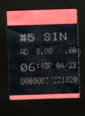Sin City ticket stub