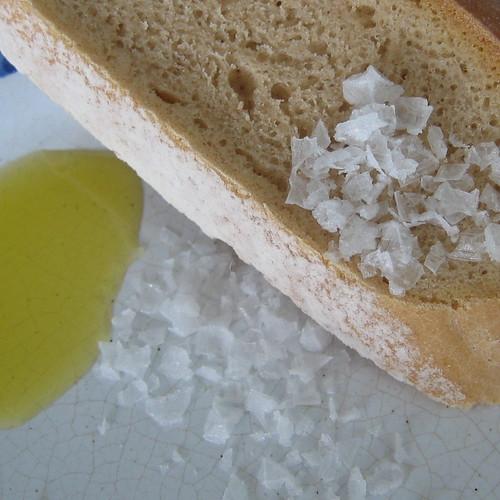 Bread, Olive oil & Maldon Sea Salt