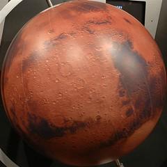 squared circle - mars globe