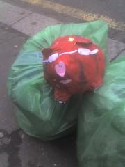 Pig in a bin