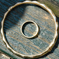 squared circle - ring within bracelet