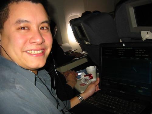 Peter on his way to MacWorld SF 2003