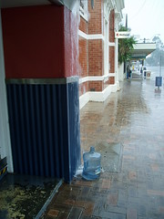 water outside the butcher shop
