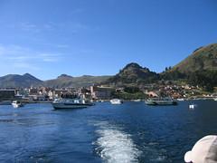 Vista a Copacabana desde el bote