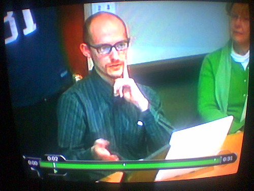 Me on Nightline, apparently. What's the deal with the facehand? Ugh. At least I sounded ok.