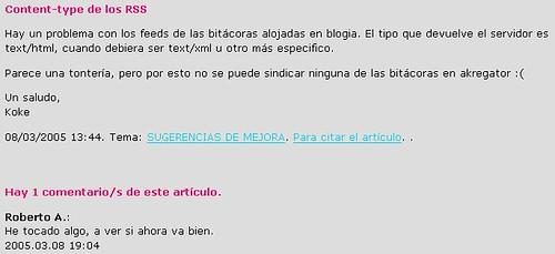 Blogia vs El Resto