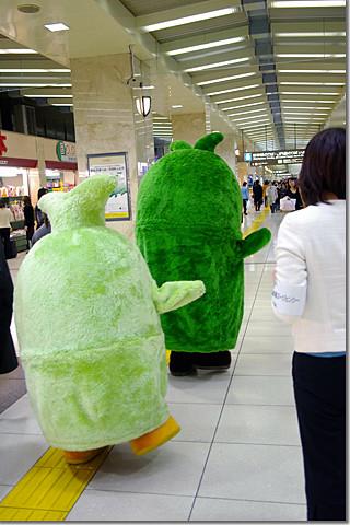 Morizo & Kiccoro at Tokyo Station 01 photo by *istD