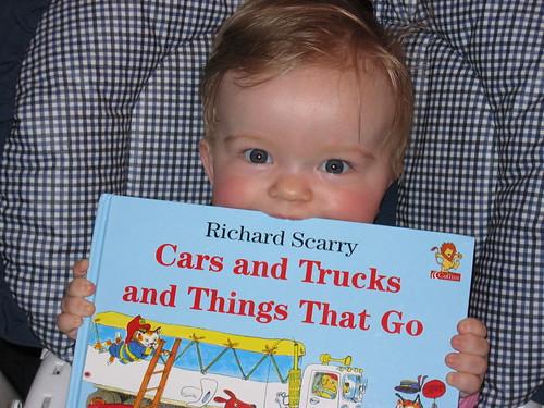 Charlotte loves her book!