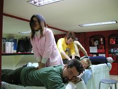 Massage beim Friseur
