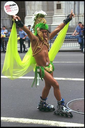 gay parader on skates