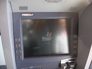 The Diebold ATM in Kohlberg coffeebar rebooting after a crash | by skyfaller