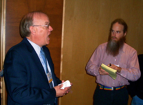 Fed and activist, Computers Freedom and Privacy Conference, Seattle, 2005 | by gruntzooki