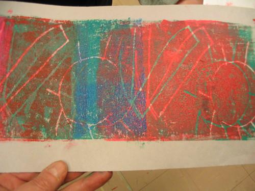 Third grade block printing