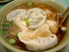 noodles with vegetable dumplings