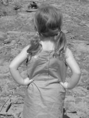 Savannah checkin out the dirty river