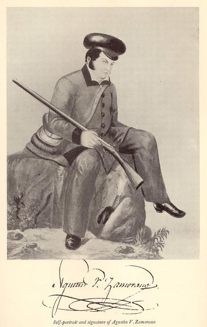 Self Portrait + Signature Of Agustin Vicente Zamorano
