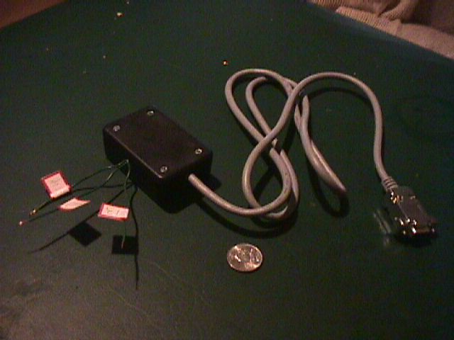 Xbox EEPROM reader | My xbox EEPROM reader, quarter shown fo