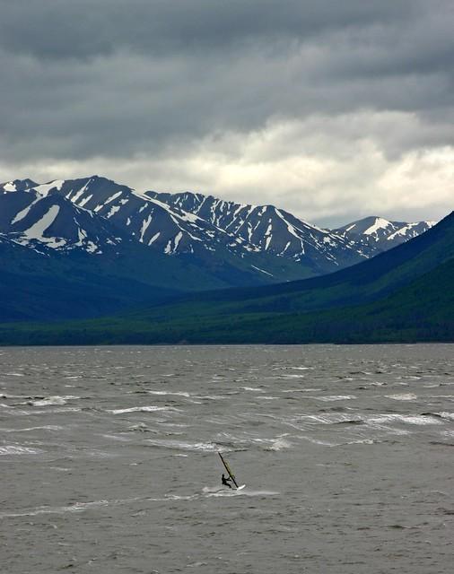 Alaska - Windsurfing in Turnagain Arm