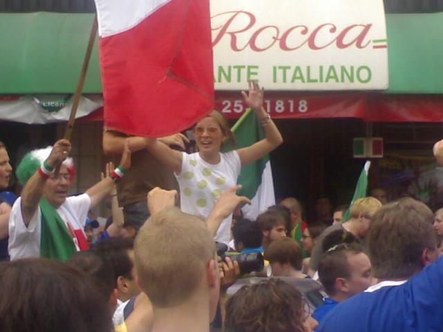 Cathy Wang Celebrates Italy's Victory