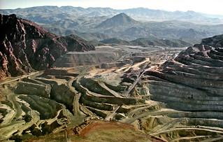 Strip mining near Globe, Arizona, 1990   by PhillipC