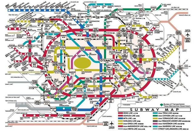 Tokyo Subway Map Hd.Tokyo Subway Map For Those Who Plan To Visit Tokyo See No