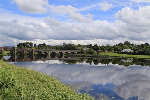 ireland sky reflection water clouds river clare outdoor shannon obriensbridge