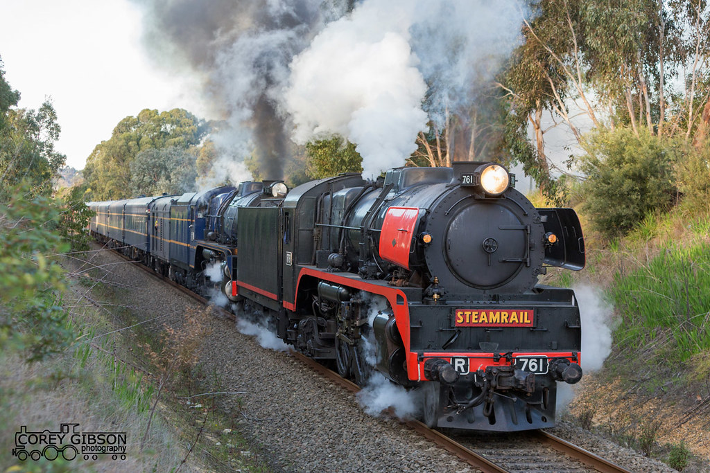 Steamrail Snow Train climbs the grade out of Traralgon by Corey Gibson