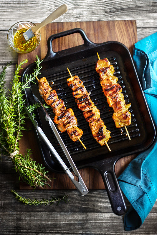 Chicken Kebab. Special ingredient used: Tomato sauce