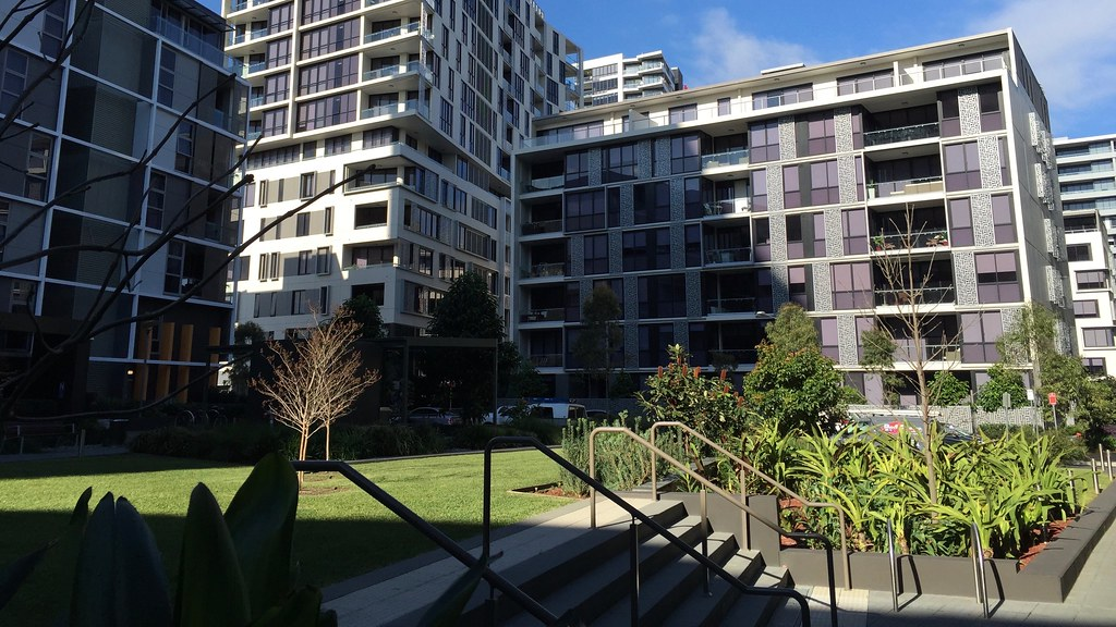 Meriton apartments in Zetland, NSW