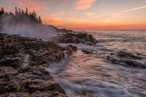 maine coast sunrise desert island acadianationalpark clouds waves water canon eos 70d wideangle rocks atlantic desertisland eastcoast