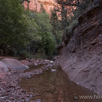 Creek flowing from Kolob Arch canyon
