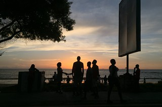 People gather at sunset on Lumley Beach, in Freetown, Sierra Leone | by DFID - UK Department for International Development