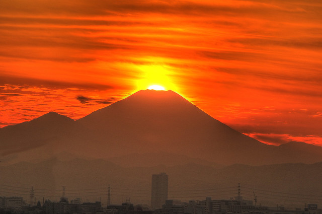 Mt.Fuji of Today(Dec.9,2015) when Sun set