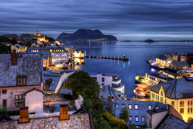 Colors of night in Alesund