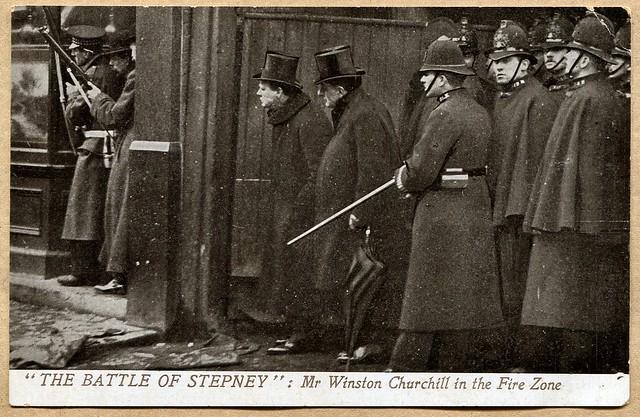 Battle of Stepney : Mr Winston Churchill (1911)