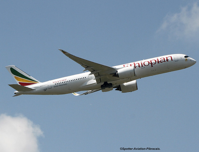 Ethiopian Airlines. First Airbus A350.