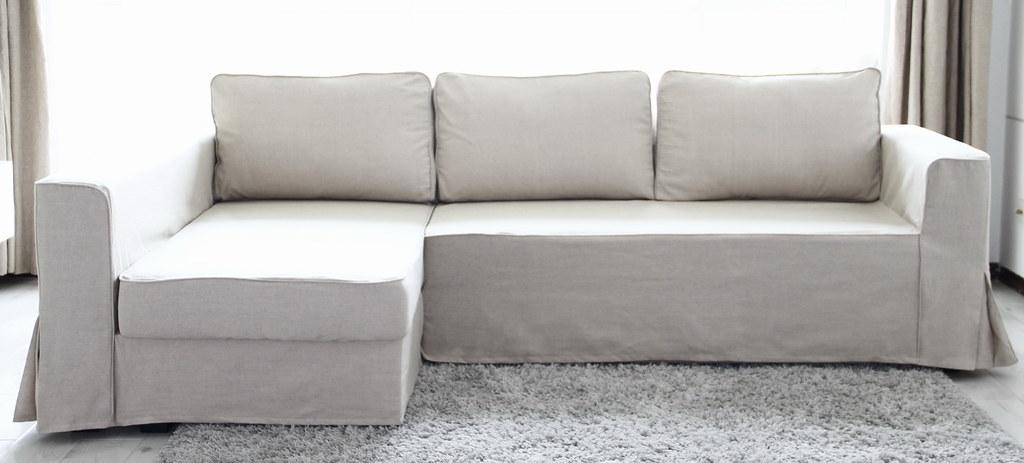 Ikea Manstad Sofa Bed Custom Linen Slipcover Comfort Wor Flickr